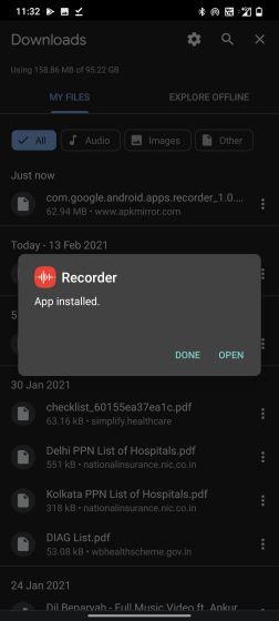 aplicación grabadora