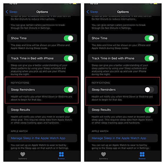 Отключить время сна на iPhone