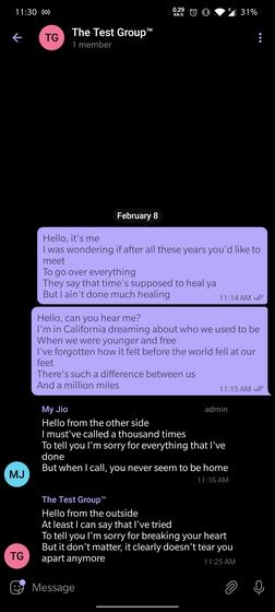 телеграмма анонимного группового сообщения