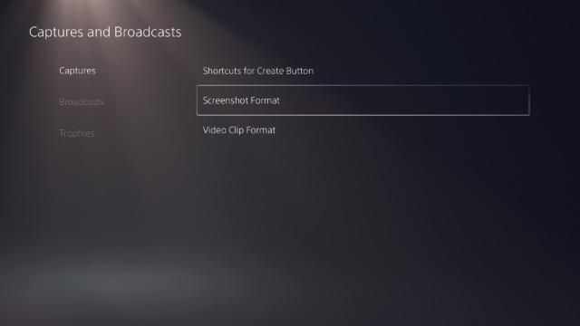 cambiar el formato de captura de pantalla ps5
