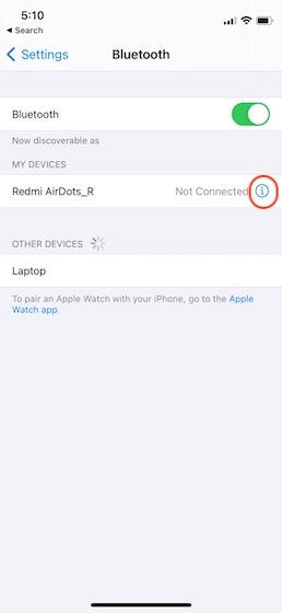 маркированные устройства bluetooth на iPhone 4