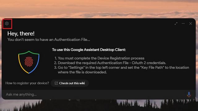 открыть настройки клиента Google Ассистента