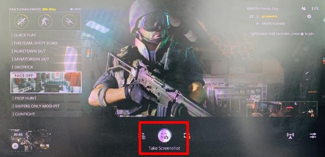 сделайте снимок экрана с помощью кнопки создания ps5