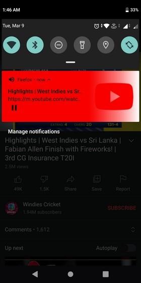Исправление фонового воспроизведения видео