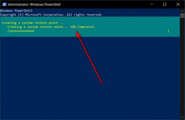 Создание точки восстановления системы с помощью Windows PowerShell