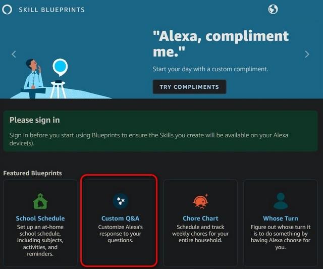 Чертежи навыков Amazon Alexa
