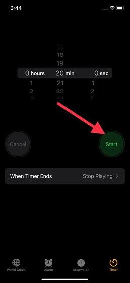 Starten Sie den Sleep Timer für Apple Music