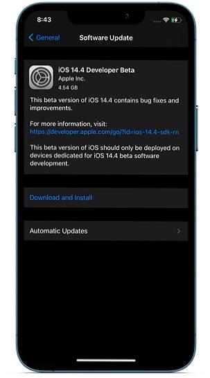 Обновление программного обеспечения на iPhone