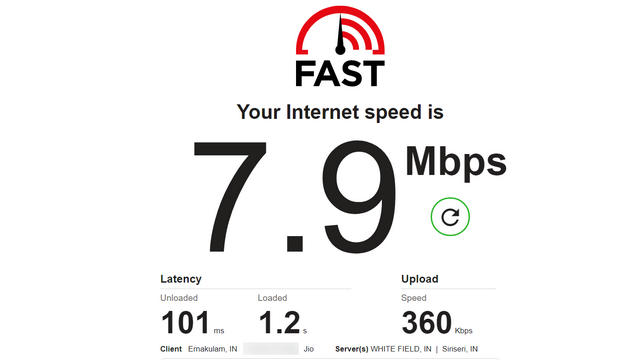 тест скорости fast.com