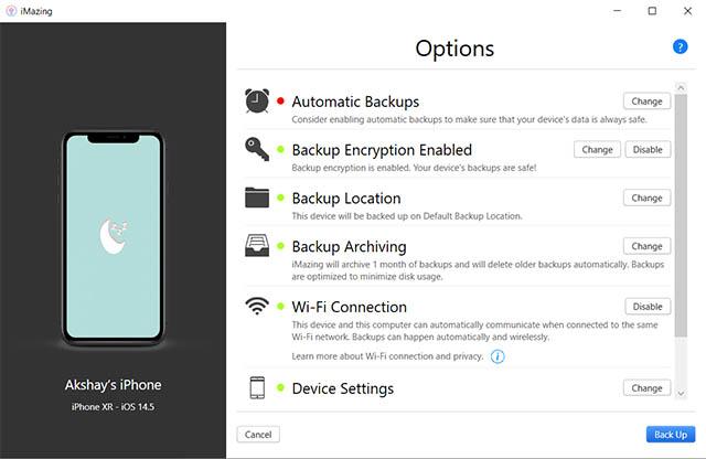 удивительные настройки iphone резервное копирование windows pc