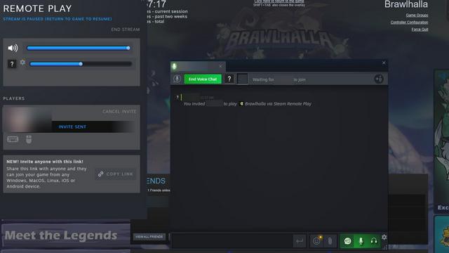 удаленная игра вместе UI