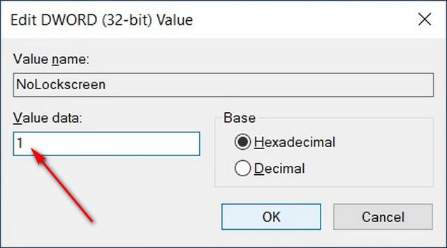 Valor DWORD hexadecimal