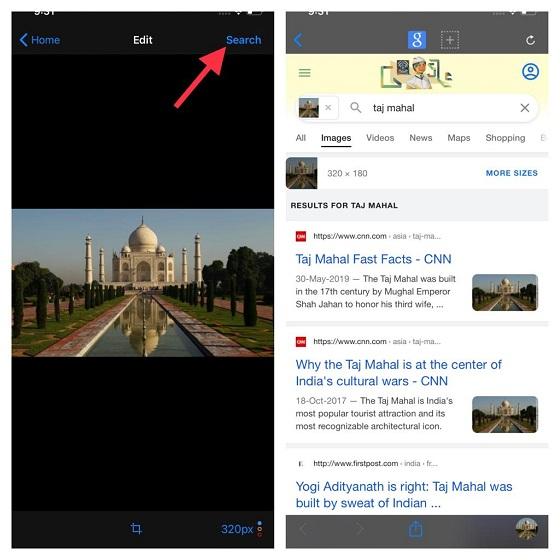 Encuentre la información esencial de una imagen: búsqueda inversa de imágenes en iPhone