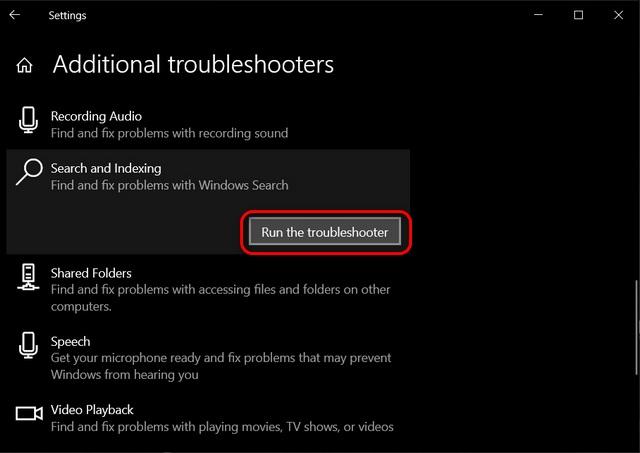 Reparar la búsqueda de Windows 10 que no funciona