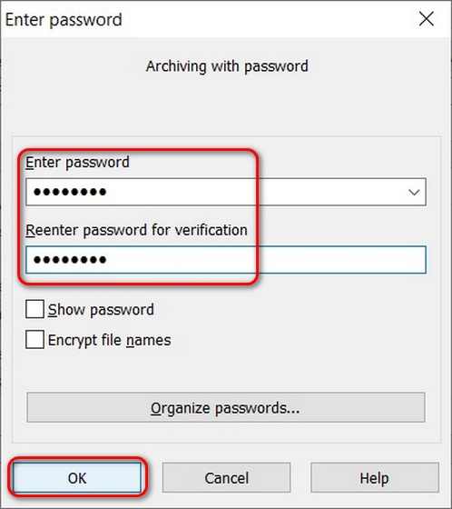 Use WinRAR para proteger con contraseña las carpetas en Windows 10