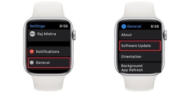 actualización de software watchOS 7
