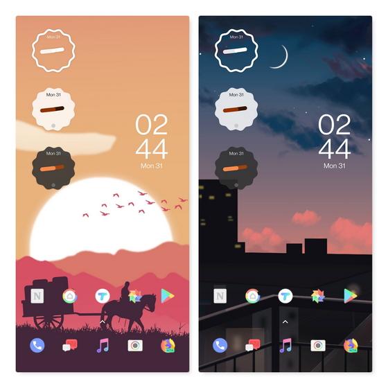 widgets de android 12