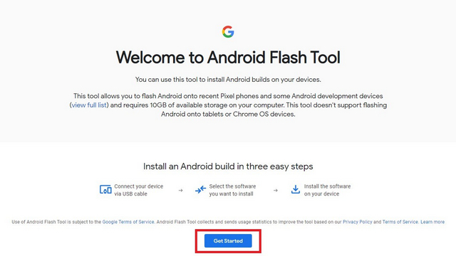 herramienta flash de Android - Instalar Android 12 Beta