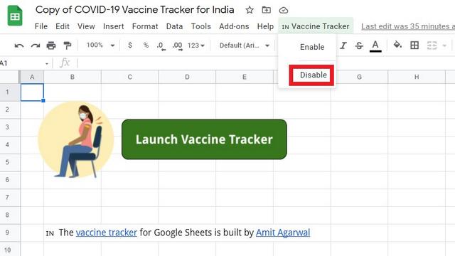 deshabilitar la alerta del rastreador de vacunas