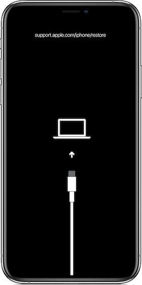 Pon el iPhone en modo de recuperación
