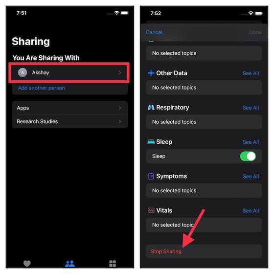 Dejar de compartir datos de salud en iOS 15: cómo configurar Health Sharing en iOS 15