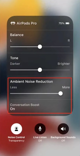 Airpods Pro Konversationsschub aktivieren