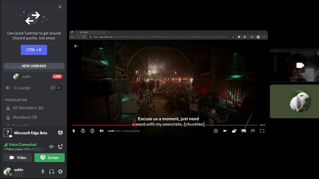 fang an Netflix auf Discord zu schauen