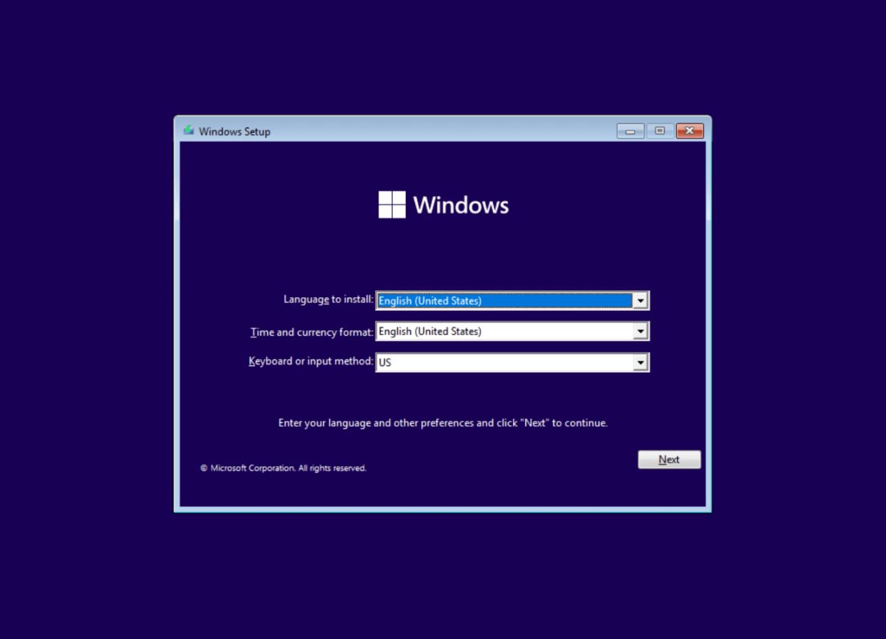 proceso de instalación de windows 11