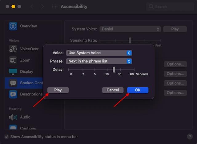 Ajustar la función de anuncios de voz en Mac: cómo habilitar las alertas de anuncio en Mac