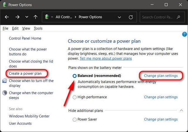 Cómo cambiar la configuración del modo de energía en Windows 11