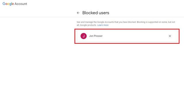 desbloquear personas cuenta de google