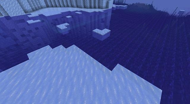 Above Frozen Ocean view