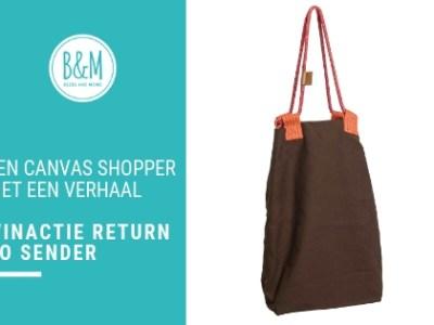 Return to Sender | Winactie Canvas Shopper