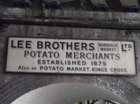 Market trader's sign Borough Market