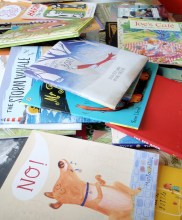 picture books in a pile