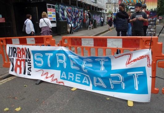 Street art area Urban Art 2015