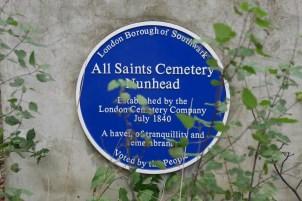 All Saints Cemetery Plaque