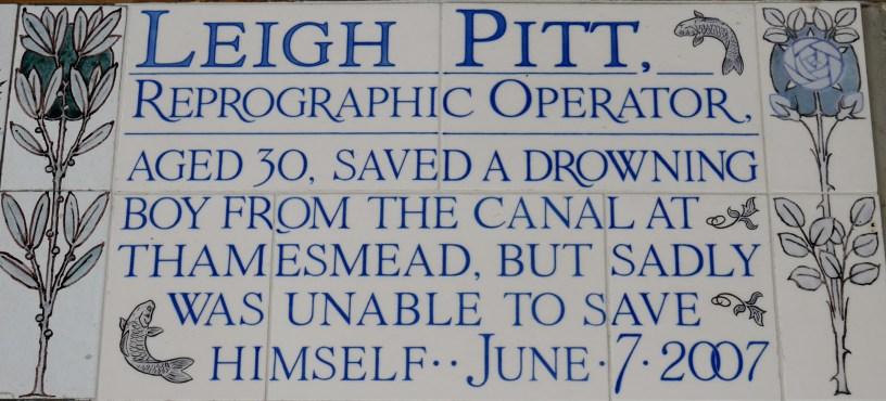Postman's Park memorial Leigh Pitt 2007
