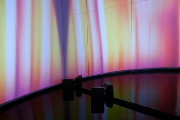 Water, light and sound in the mirror maze