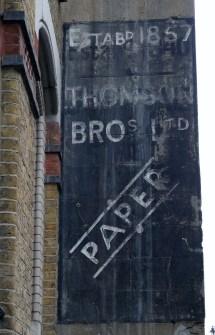 Thomson Bros Ltd, Paper, Estab'd 1857,