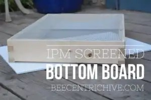 Beecentric Hive, IPM Screened Bottom Board