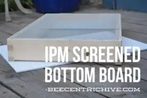 Beecentric Hive, Integrated Pest Management (IPM) Screened Bottom Board