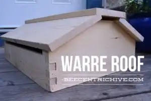 Beecentric Hive, Warre Hive Roof