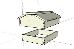 Increase Winter Survival With A 10 Frame Warre Top-Quilt And Vented Roof For Langstroth Hives
