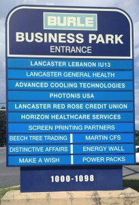 Burle Business Park Marquee Sign