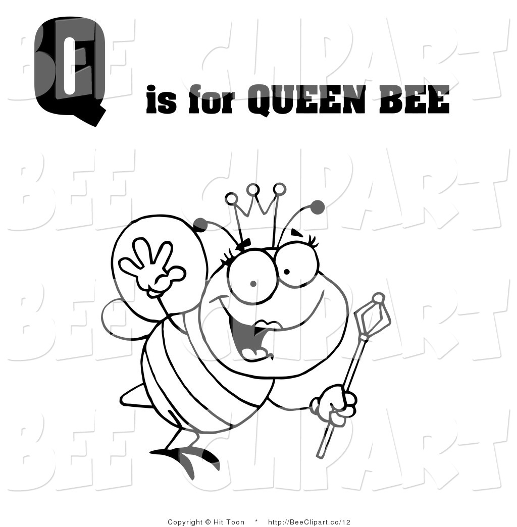 Royalty Free Black and White Stock Bee Designs