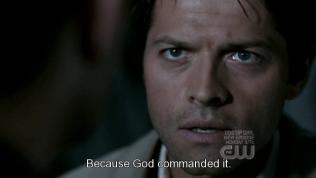 """""""Bởi vì đó là mệnh lệnh của Chúa trời."""" - *tưởng tượng* God: """"Đi và giải cứu tình yêu của con đi."""" =)))))"""