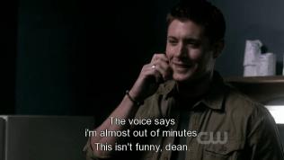 """""""Cái máy nói là tôi sắp hết phút rồi."""" - *Nhìn mặt Dean lúc nghe Cas nói kìa ~~ iu quớ*"""