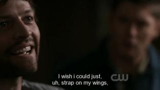 """Cas nghe thế bật cười, """"Tôi ước gì mình có thể, ờ, đeo lại đôi cánh của mình."""""""