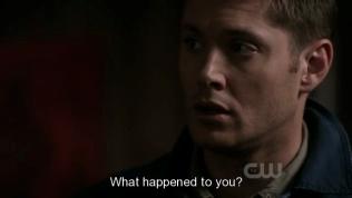 """Dean nhận ra sự bất thường của Cas, hỏi, """"Chuyện gì đã xảy ra với anh?"""""""